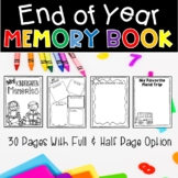 End of Year Memory Book for Kindergarten, First, & Second Grades!