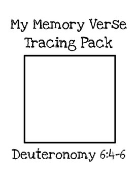 My Memory Verse Tracer Pages (Deuteronomy 6:4-6)