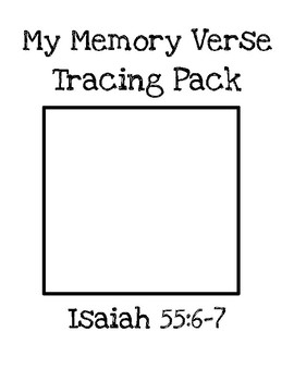 My Memory Verse Tracer Pages (Isaiah 55:6-7)