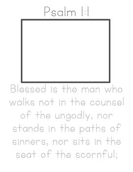 My Memory Verse Tracer Pages (Psalm 1)