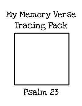 My Memory Verse Tracer Pages (Psalm 23)