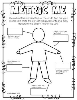 My Metric Self (Metric Measuring Mini-Lab)