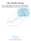 My Mindful Body in Criss Cross Applesauce Worksheet
