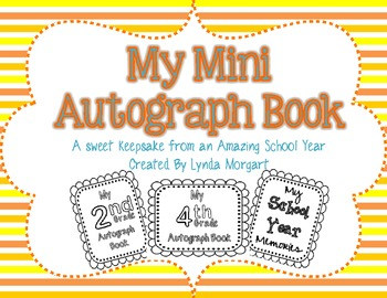My Mini Autograph Book An End Of The Year Memory
