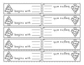 Christmas Activities - Print, Spelling, and Alphabetical Order Practice