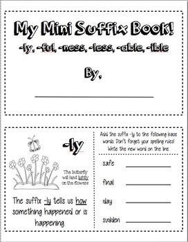 My Mini Suffix Book part 2!!