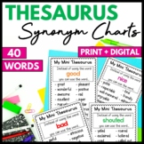 Thesaurus Charts - synonyms for common words