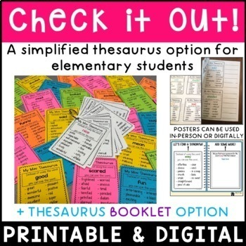 Thesaurus Charts Synonyms For Common Words By Miss P S Style Tpt