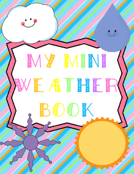 My Mini Weather Book - Science, Writing and Art