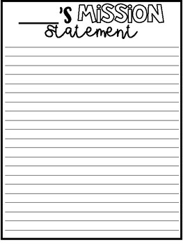 My Mission Statement - Back to School