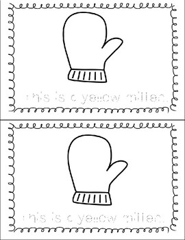 My Mitten Winter Color Words Printable Tracing Book