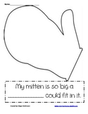 My Mitten is so big writing prompt First Grade