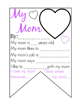 My Mom ( Mothers Day ) Banner/ Pennant