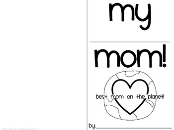 "Mother's Day: ""My Mom""  gift book"