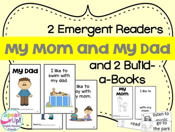 My Mom & My Dad Emergent Reader & Build-A-Book {Young Readers, ESL, EFL}