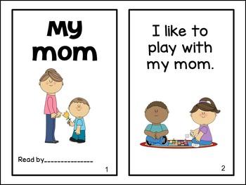 My Mom & My Dad Emergent Reader & Build-A-Book {Young Readers, ESL, EFL}