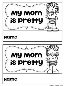 My Mom is Pretty Emergent Reader Book {Young Readers, ESL, EFL}