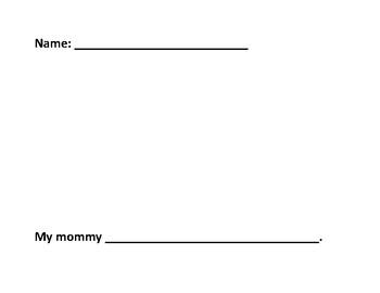 My Mommy Sentence Stem