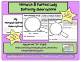 My Monarch & Painted Lady Butterfly Observations