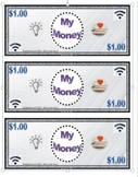 "FREE!  Classroom Currency ""My Money"" Grades K-12. All Subjects"