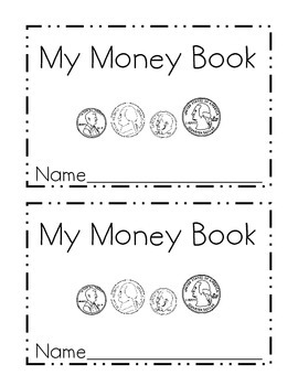 my money mini book identifying coins by just me in first grade tpt. Black Bedroom Furniture Sets. Home Design Ideas
