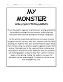 My Monster: A Halloween Descriptive Writing Activity