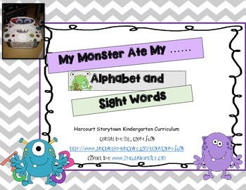 My Monster Ate My ABC's and Kindergarten Sight Words Letter Recognition