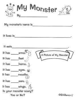 My Monster Creative Writing