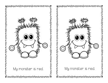 My Monster Emergent Reader