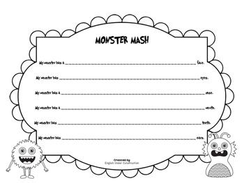 Monster Mash - Spooky Sentence Frames for Beginning Writers