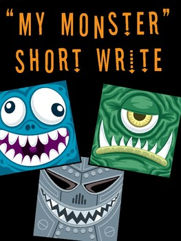 My Monster Halloween Writing Practice