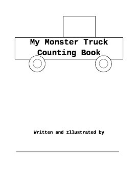 My Monster Truck Counting Book Template