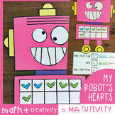 My Robot's Hearts {Ten Frame Addition} Mathtivity