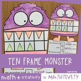 Ten Frame Addition Math Craft | Monsters Teeth