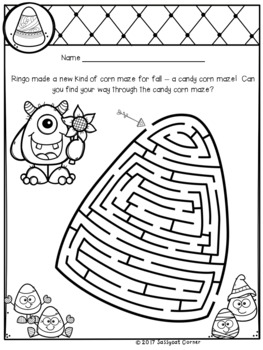 My Monster themed mazes for fall and Halloween