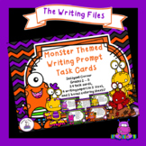 My Monsters Writing Prompt Task Cards