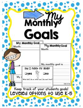 My Monthly Goals!