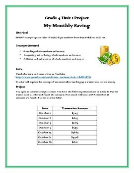 My Monthly Saving Project