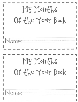 My Months of the Year Book