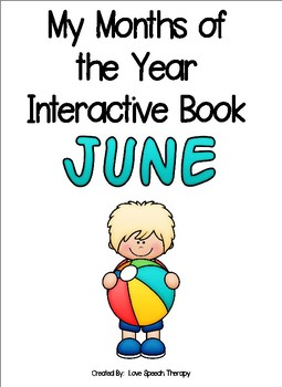 My Months of the Year Interactive Book