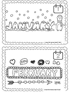 My Months of the Year Mini-Book Freebie