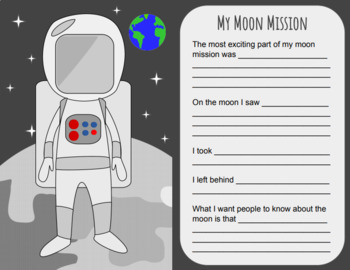 My Moon Mission Writing Activity