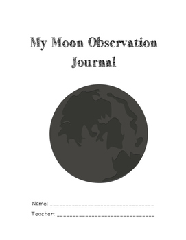 My Moon Observation Journal