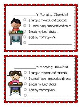 My Morning Checklist