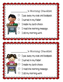 My Morning Checklist