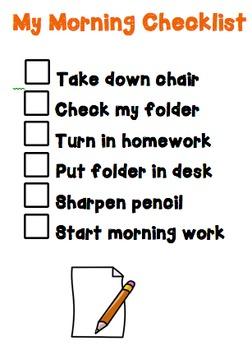 My Morning Checklist (Morning Procedures) (Editable)
