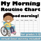 My Morning Routine Chart: Life Skills for General and Special Education