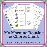My Morning Routine and Chores Board - Editable