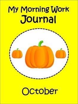 Morning Work Journal for October