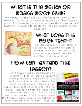 My Mouth Is A Volcano- Behavior Basics Book Club